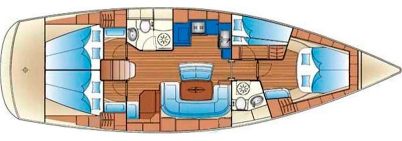 Plano del velero Bavaria 46 Cruiser de Olatua